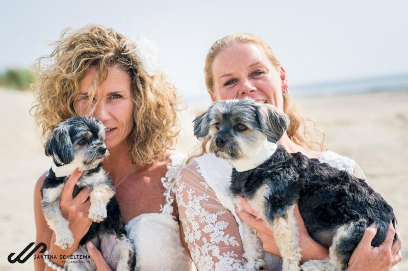 Bruiloft met bruidshondjes op Ameland 30