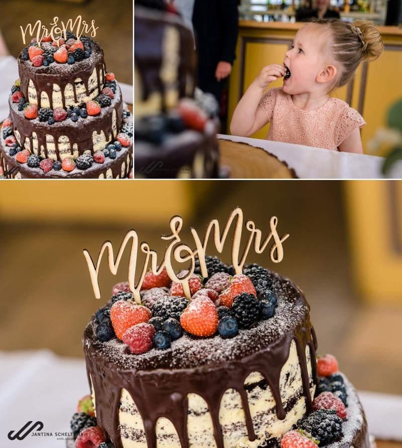 chocolade bruidstaart bruiloft paalkoepel