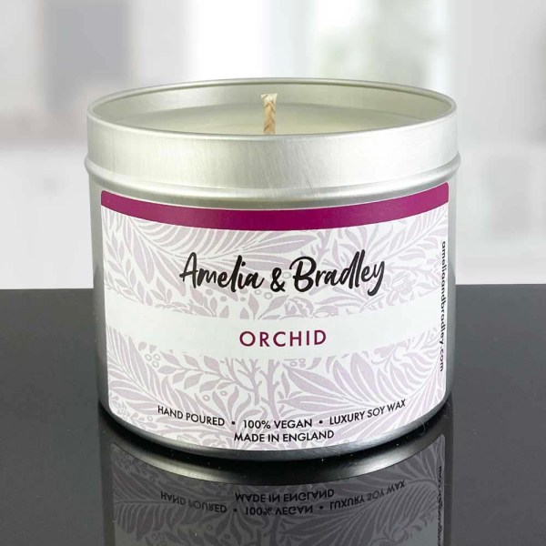 orchid soy wax candle