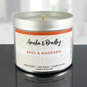 basil and mandarin candle