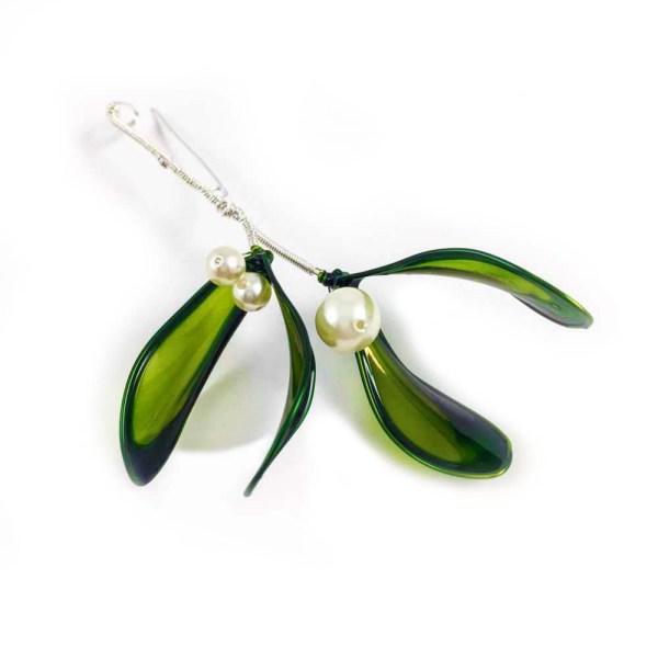 Mistletoe brooch christmas gift
