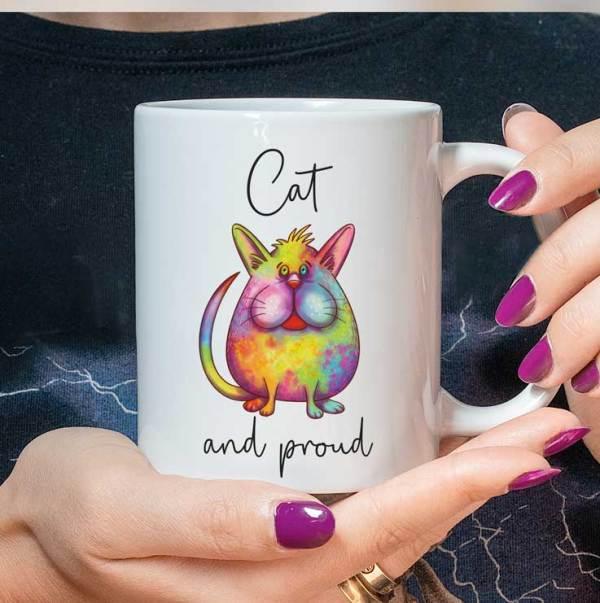Rainbow Cat Mug LGBTQ