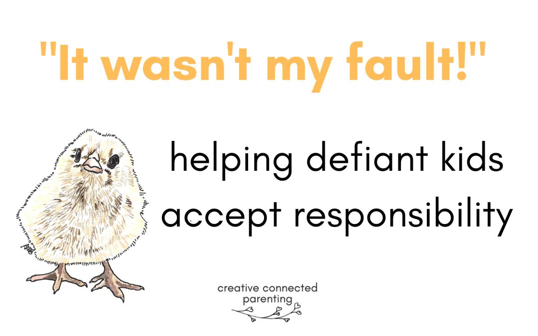 """Nope, it's YOUR FAULT."" Helping children take responsibility for mistakes"