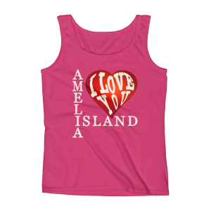 Amelia I Love You Missy Fit Tank-Top Hot-Pink