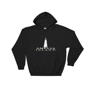 Amelia Island Lighthouse Hoodie Black
