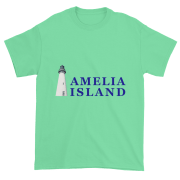 Amelia's Iconic Lighthouse Ultra Cotton T-Shirt Mint-Green