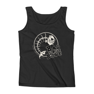 Bad to the Bone Missy Fit Tank-Top Black