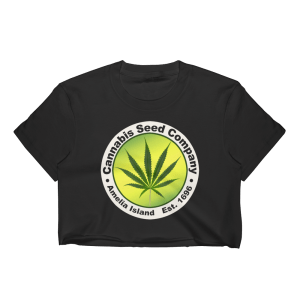 Cannabis Seed Company-Short Sleeve Cropped T-Shirt Black