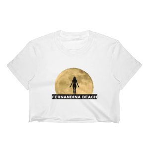 Full Moon Yoga Short Sleeve Cropped T-Shirt White