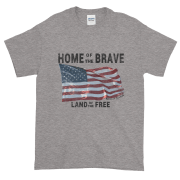 Home of the Brave Ultra Cotton T-Shirt Sport-Grey Black Text