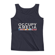 Occupy Amelia Ladies Missy Fit Tank Top Navy