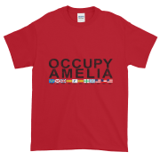 Occupy Amelia Ultra Cotton T-Shirt Cherry-Red Black Graphic