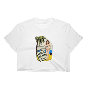 Oops My Bathing Suit Short Sleeve Cropped T-Shirt White