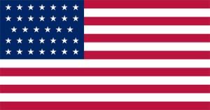 States Flag 34 Stars 1861