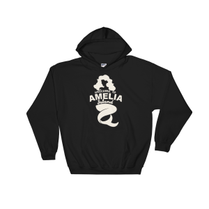 Welome to Amelia Mermaid Hoodie Black