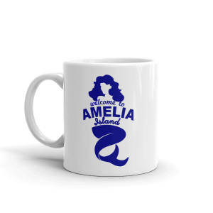 Welome to Amelia Mermaid Mug Handle-on-Left 11oz
