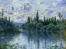 Claude Monet - Arm of the Seine near Vetheuil - Landscape - 1878