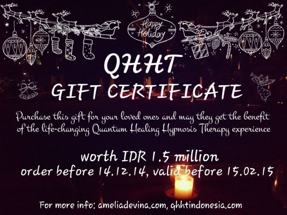 QHHT Gift Certificate 2014