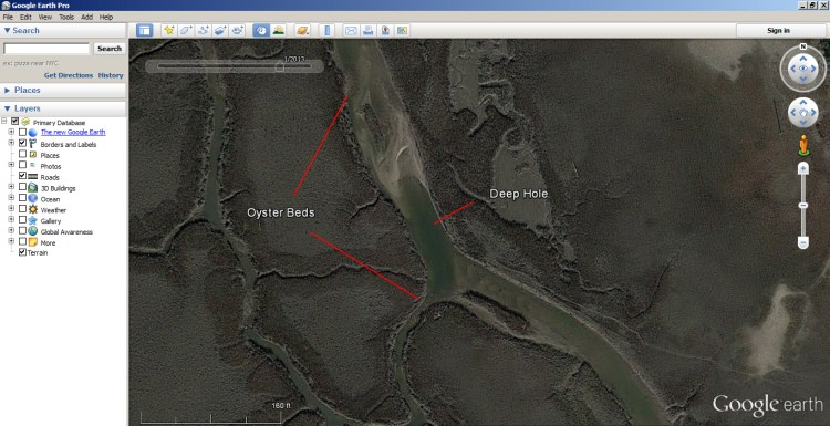 How to Use Google Earth to find Inshore Structure 2