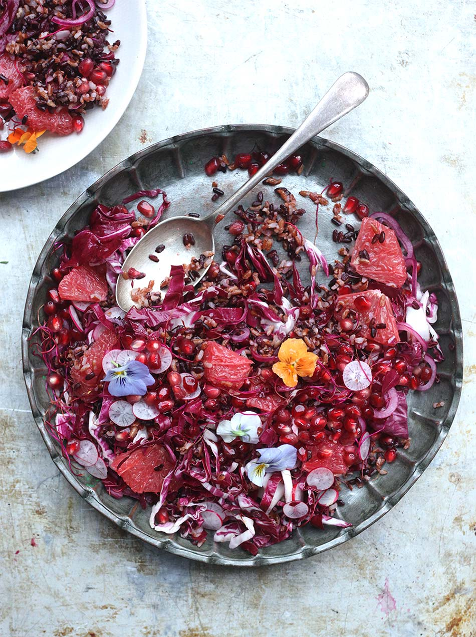 Wild Rice Purple Salad