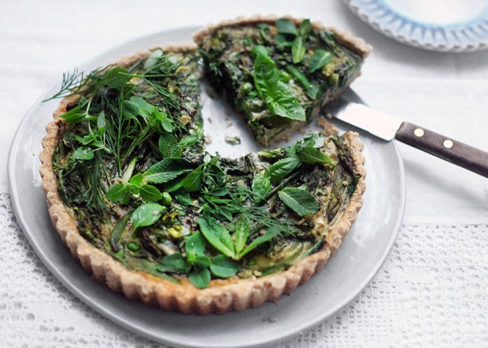 Watercress Spring Tart