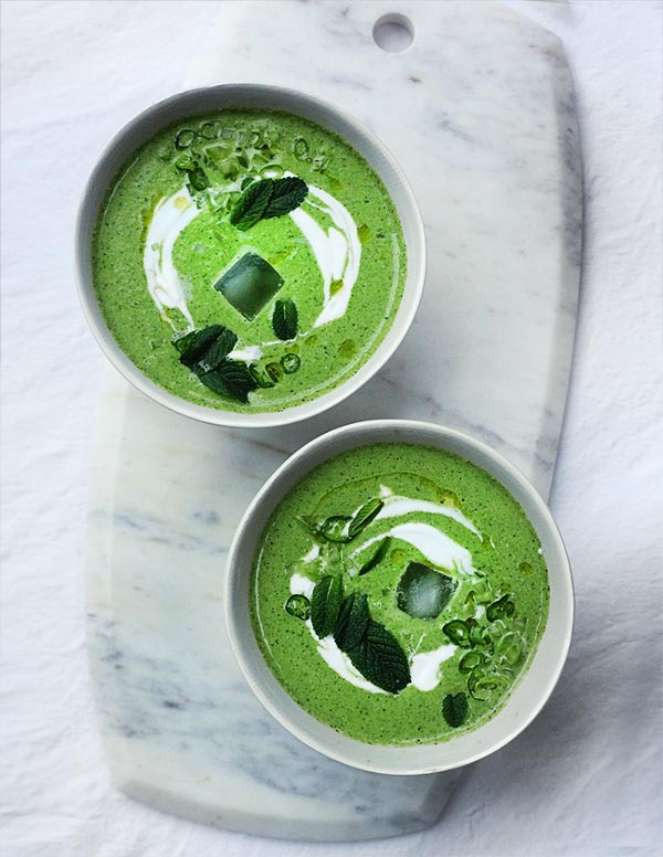 Cucumber and herb gazpacho by Amelia Freer