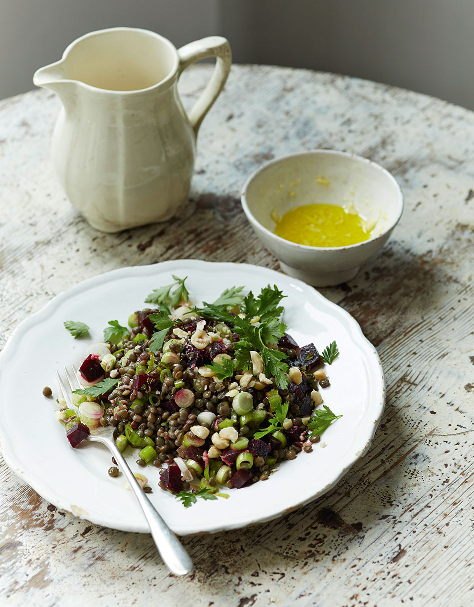 Lentil, Hazelnut and Ginger Salad by Amelia Freer