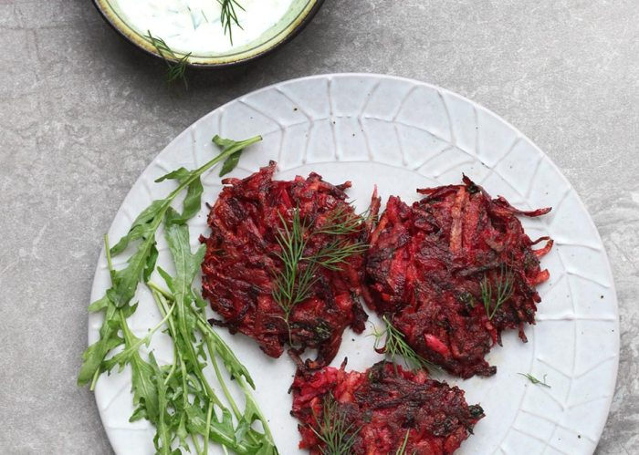 Beetroot and Parsnip Fritters, Amelia Freer