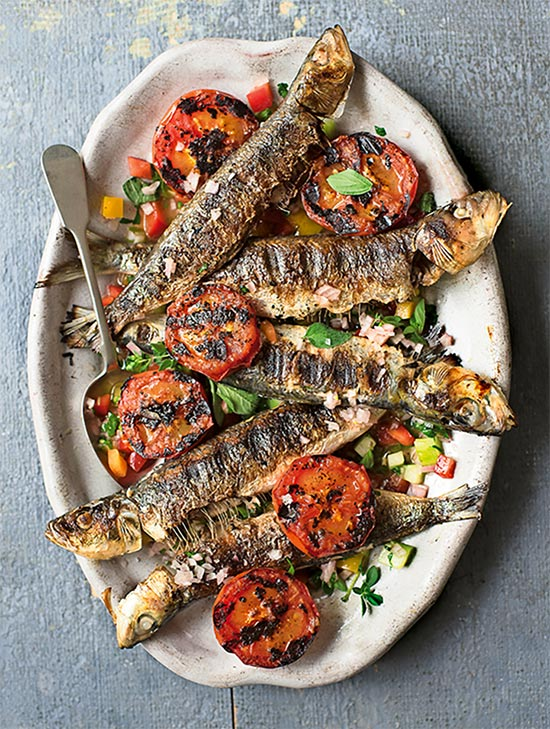 Grilled Sardines and Tomatoes, Amelia Freer