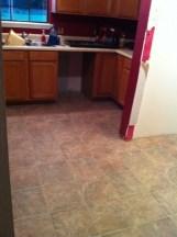 New floor in the kitchen