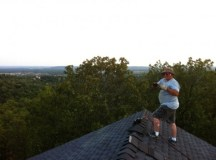 Finishing the new roof