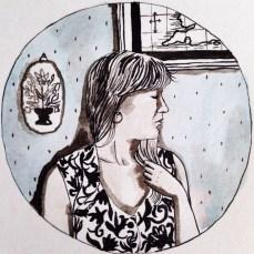 My Favorite Waitress Inspired Self Portrait