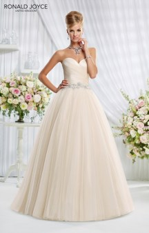 Eliza - A RUCHED TAFFETA BODICE ON A TULLE PRINCESS SKIRT AND BEADED WAISTBAND
