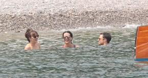 Dakota Johnson and Jamie Dornan during filming of Fifty Shades Darker. 13 July 2016. Please byline: Vantagenews.com