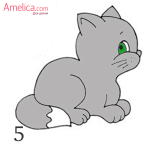 as a child to draw a cat in gradually