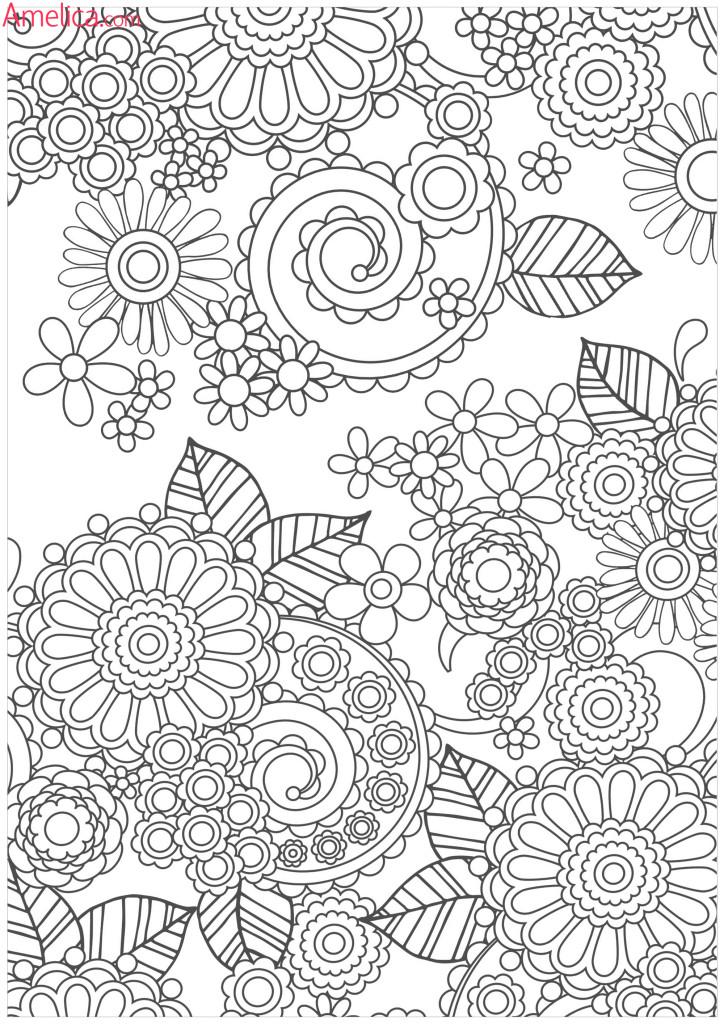раскраска антидепрессант цветочная арт терапия раскраски