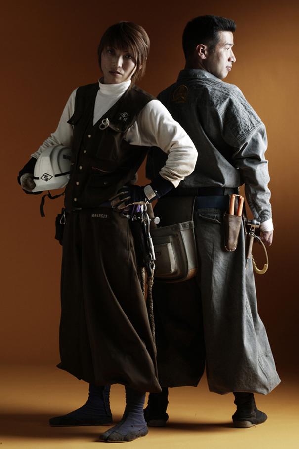 Tobi shokunin, les ouvriers japonais