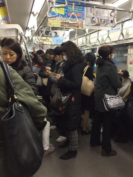 Tokyo déconnectée - Dans le métro