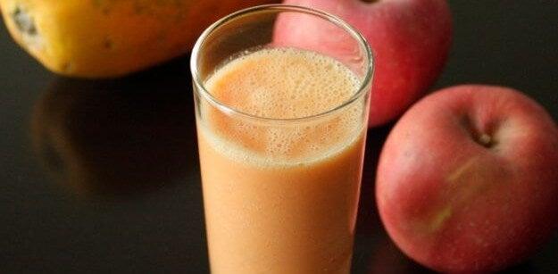 Jus détox de pomme et papaye