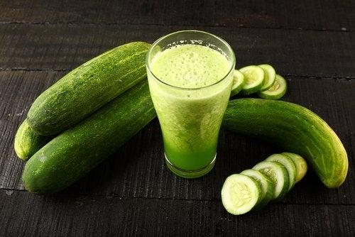 Cucumbers and cucumber juice