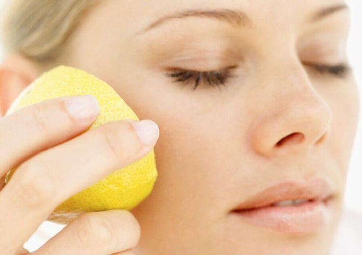 citron sur la peau