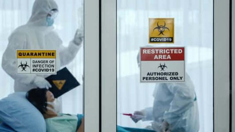Une femme enceinte en quarantaine à cause du coronavirus