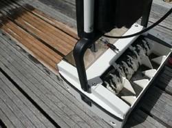 nettoyage terrasse bois avec une machine