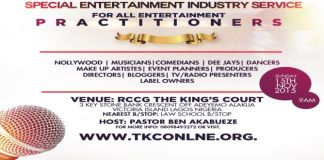 News: RCCG kings Court presents a Special Entertainment industry service.