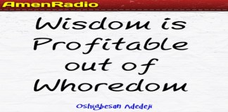 Wisdom is profitable to direct