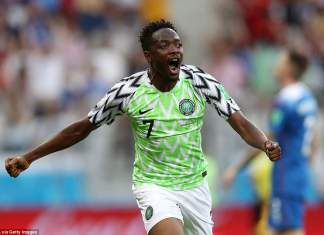 Ahmed Musa fires Super Eagles up to second spot in Group D [www.amenradio.net]