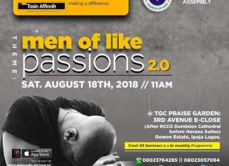 Fresh Oil Seminar: Men of Like Passions 2 - Tosin Affinnih [August 2018]