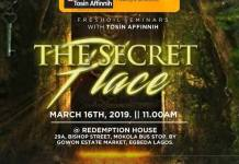 Fresh Oil Seminar: The Secret Place - Tosin Affinnih | AmenRadio.net