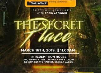 Fresh Oil Seminar: The Secret Place - Tosin Affinnih | AmenRadio.net