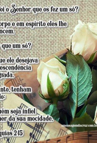 Ninguém seja infiel - versiculos-sobre-amor-malaquias-2-15